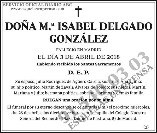 M.ª Isabel Delgado González